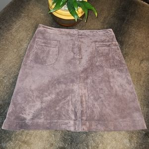 2/$35🔥 Lilly Pulitzer A-Line Suede Skirt Sz 10